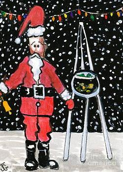 Sidewalk Santa by Joyce Gebauer