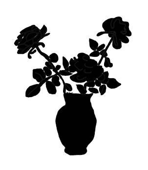 Kate Farrant - Silhouette Vase of Flowers