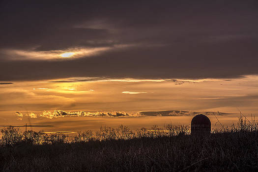 Silo Sunset by Andy Smetzer