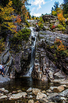 Silver Cascade at Crawford Notch State Park by Patrick Lombard