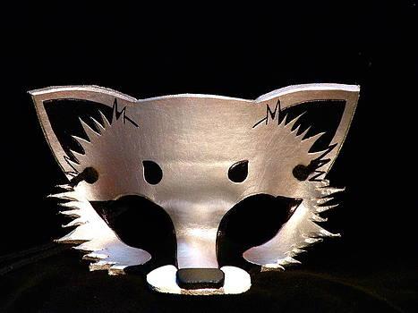 Silver Fox Mask by Fibi Bell