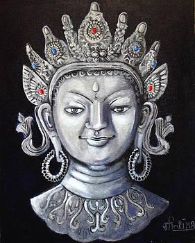 Silver Tara Mask by Greeshma Manari