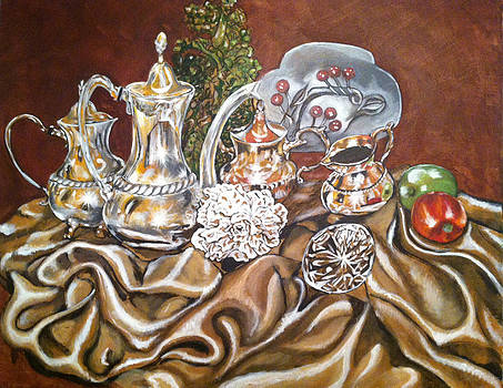 Silver Tea Set by Annette Jimerson