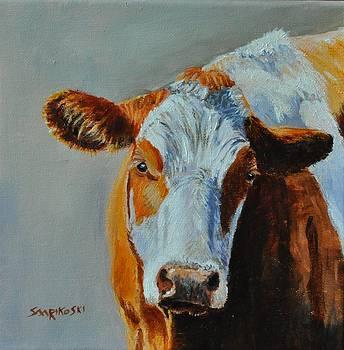 Simmental Cow by Louise Charles-Saarikoski