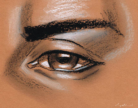 Simple eye drawing male by Carey Muhammad