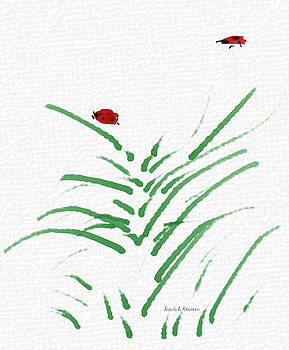 Angela A Stanton - Simply Ladybugs and Grass