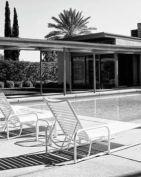 William Dey - SINATRA POOL BW Palm Springs