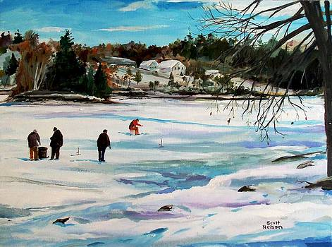 Singeltary Lake Ice Fishing by Scott Nelson