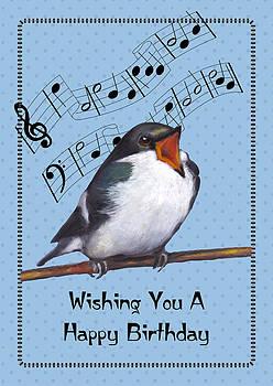Joyce Geleynse - Singing Bird Birthday Card
