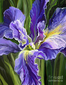 Single Iris by Linda Minkowski