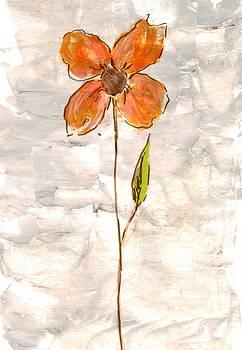 Single Orange Flower by Mirko Gallery