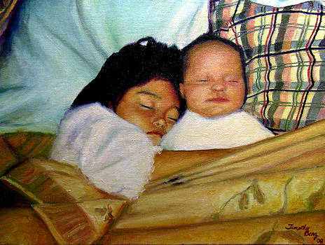 Sisters in Bed by Timothy Benz