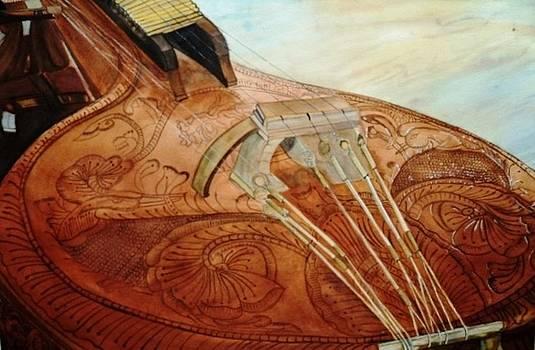Sitar Artwork by Anuradha Gupta