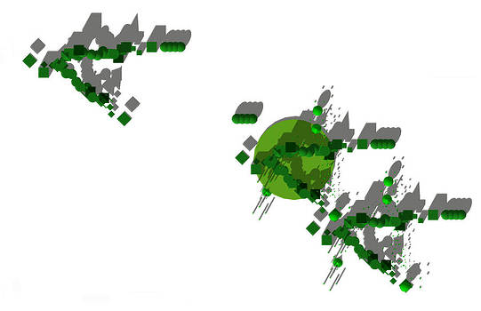 Site Plan in Green Monochrome by Y-axis lab