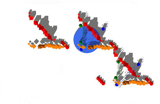 Site Plan in Orange and Blue And Red and Green by Y-axis lab