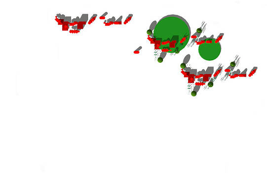 Site Plan in Red and Green by Y-axis lab