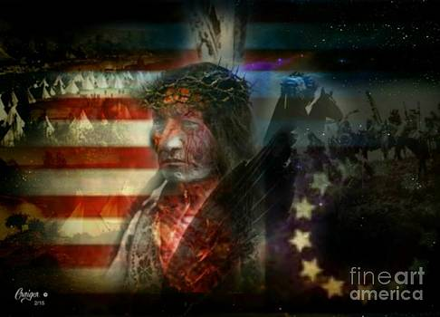 Sitting Bull Crucified Nations by Craiger Martin