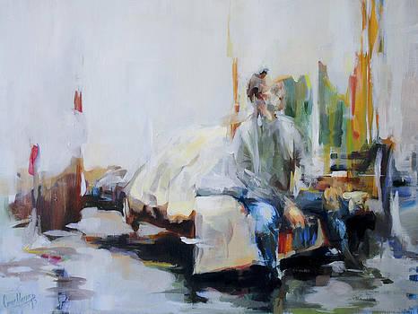 Sitting On A Bed  by Omar Najjar