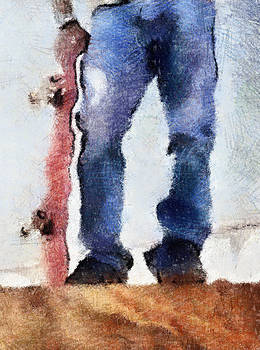Skateboard and Jeans by Natalia Corres