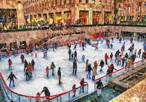 Skating at Rockefeller Center by Kathy Jennings