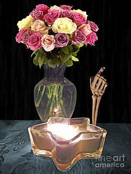 Skeleton Hand Candle Roses by ChelsyLotze International Studio