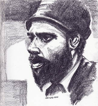 Sketch Of Thelonious by Dallas Roquemore