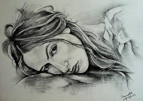 Sketch_charcoal by Somnath Kundu
