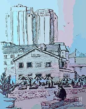 John Malone - Sketching on the Halifax Waterfront