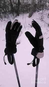 Ski Poles by Polly Anna