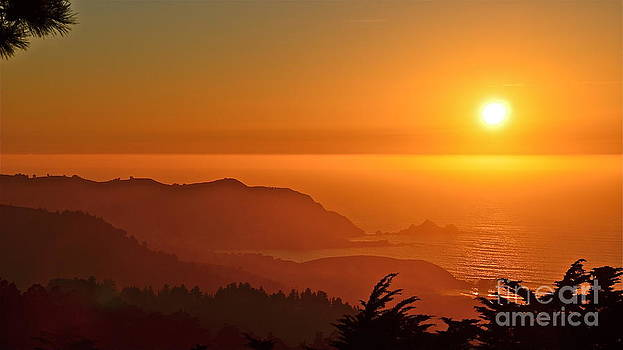 Skies of Gold at Pedro Point by Amy Fearn