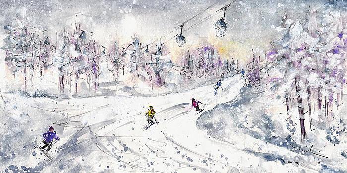 Miki De Goodaboom - Skiing In The Dolomites In Italy 01