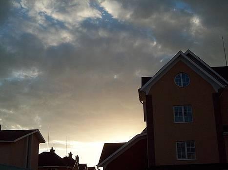 Sky and roofs by Galina Todorova