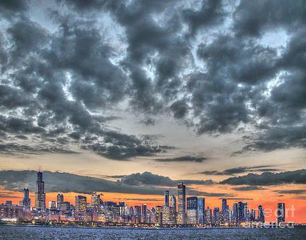 Skyline sunset by Jim Wright