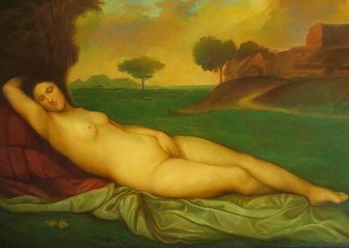 Sleeping Venus by Michael Chesnakov