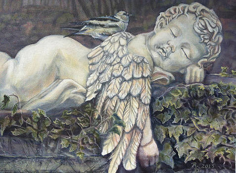 Sleepy Cherub by Rayna DeHoog
