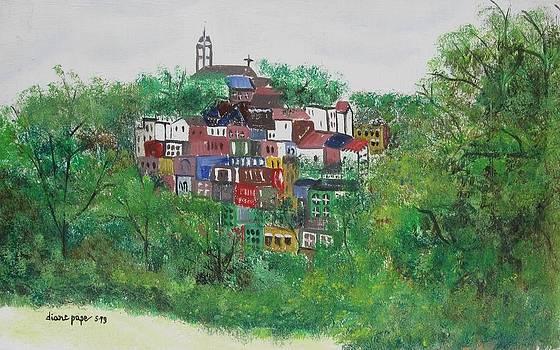 Sleepy Little Village by Diane Pape