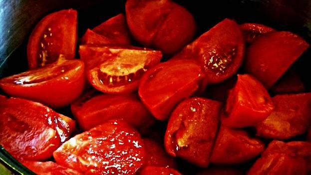 Sliced Tomatoes by Michael Sokalski