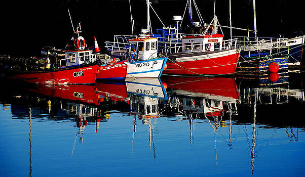 Small Lobster Boats in Howth Harbour. by Frank Gaffney