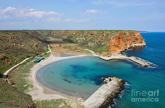 Small Peaceful Beach on Bulgarian Black Sea Coast by Kiril Stanchev