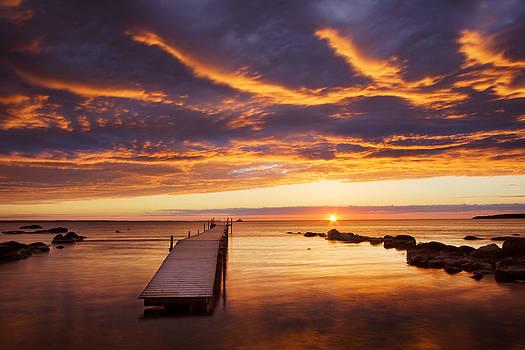 Small pier at the sea by Anna Grigorjeva