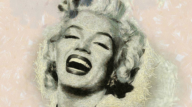 Smile Marilyn Monroe black and white by Georgi Dimitrov