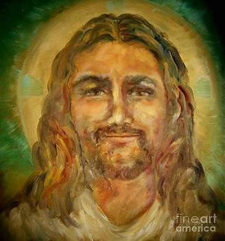 Smiling Jesus  by Suzanne Reynolds