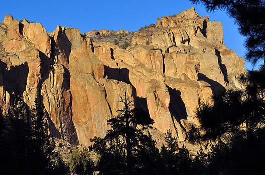 Smith Rock Face by Thomas J Rhodes