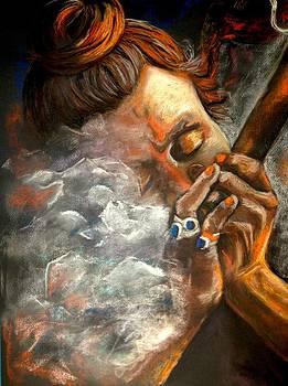 Smoking Saddhu by Gala Ilchenco