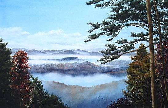 Smoky Mountains-Morning Mist by Penny Johnson