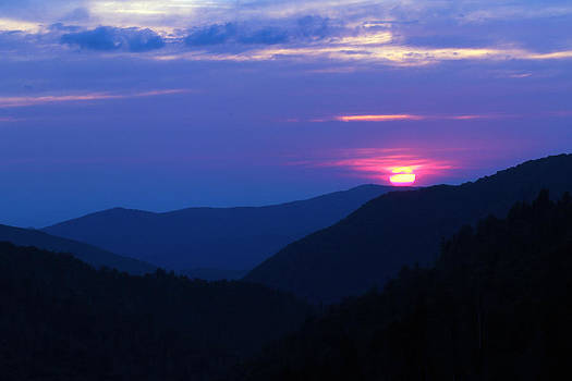 Smoky Sunset by David Yunker