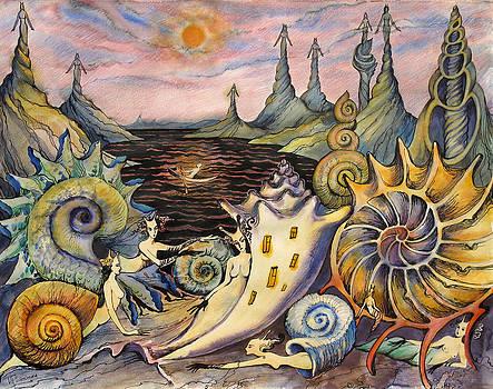 Snail City  by Valentina Plishchina