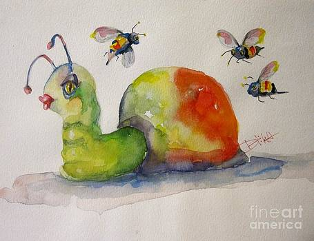 Snail with Bees by Delilah  Smith