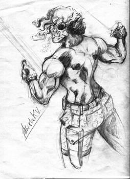 Snake Plisskern Memory Drawing  by Abhishek Vishwakarma