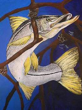 Snook Painting by Lisa Bentley